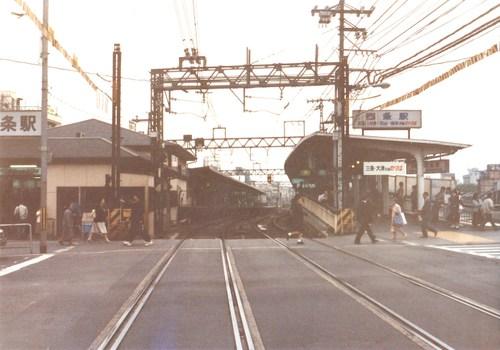 1987年 京阪四条駅